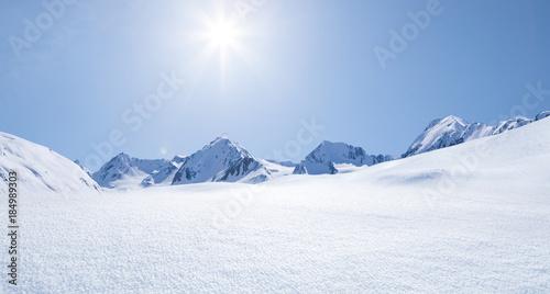 canvas print picture Schneelandschaft