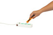 Hand hold Sensitivity range volt alert pen for protection electricity.