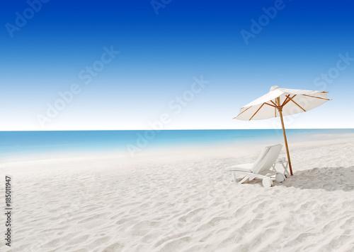 Foto op Plexiglas Indonesië A beach chair, on a beach holiday
