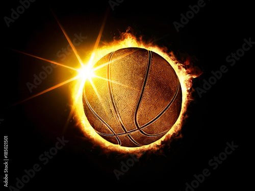 Obraz na płótnie basketball ball like solar eclipse