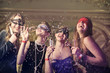 Quadro Girls at a masked party