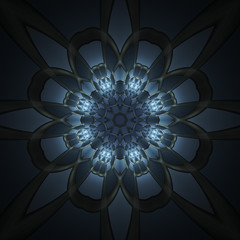 Abstract design in fractal art style