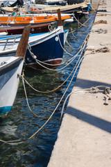 Fischerboote im Hafen von Marina di Campo, Elba