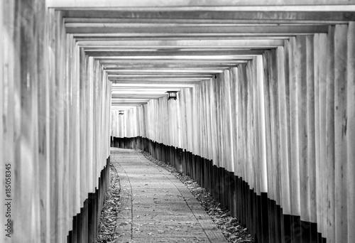 Fotobehang Kyoto Fushimi Inari Taisha Shrine in Kyoto,