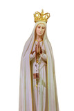 Our Lady of Fátima statue isolated - 185064123