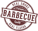 Real Barbecue Meats Menu Design Stamp
