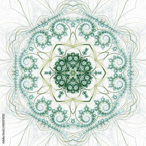 Dark nature themed fractal swirls, digital artwork for creative - 185076130