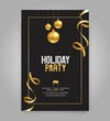 Vector illustration  design for holiday party and happy new year party invitation flyer and greeting card  template