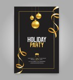 Vector illustration  design for holiday party and happy new year party invitation flyer and greeting card  template - 185082393