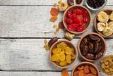 Dried fruits on wooden background - 185092185