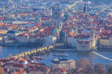 vue sur le karluv most et le stare mesto de prague