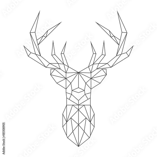 Fotobehang Hipster Hert Abstract polygonal deer. Geometric hipster minimal style. Vector illustration.