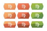 Sticker Set - Etikett Preisschild - Jungfrau - Tierkreis - 185109761