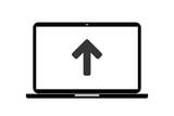 Laptop - Pfeil nach oben - Hinweis - 185121756