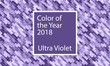 Color of the year 2018. Ultra violet abstract digital background