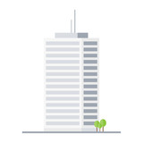 Company building in flat style - 185132106