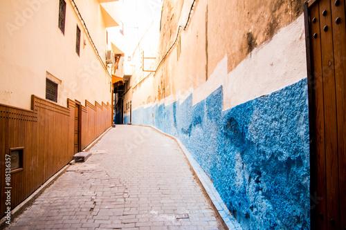 Poster Smal steegje Back Street in Morocco