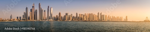 Deurstickers Dubai Modern city skyline