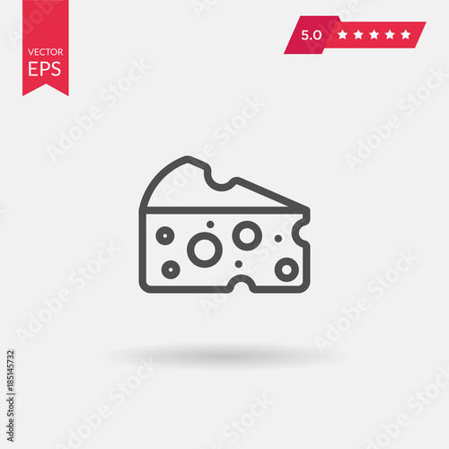 Cheese Flat Icon Single High Quality Outline Symbol Of Milk Foo