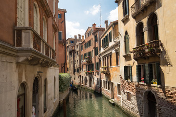 Venice / small canal and historial architecture