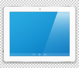 Realistic tablet computer with a blank screen to present your application design. - 185167522