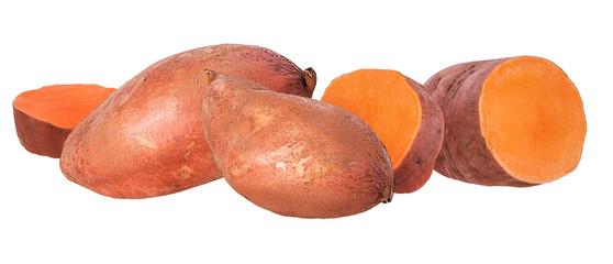 Sweet potato on white background © ilietus