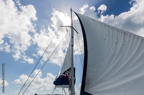 Fotobehang Zeilen British Virgin Islands Sailing Stock 2