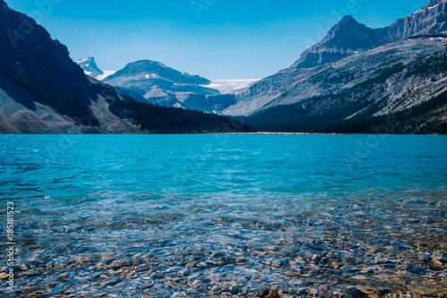 Foto op Aluminium Blauw Bow Lake
