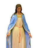 Our Blessed Morther Mary statue isolated - 185184348