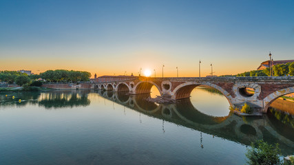 Pont Neuf in Toulouse, France.