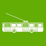 Trolleybus icon green