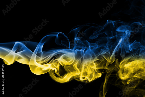 Foto op Plexiglas Kiev Ukraine national smoke flag