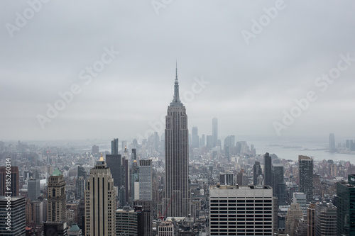 Foto op Aluminium New York Aerial view new york city