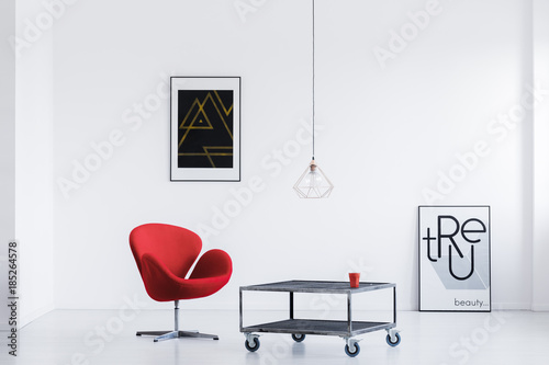 Wall mural Relax room with modern posters