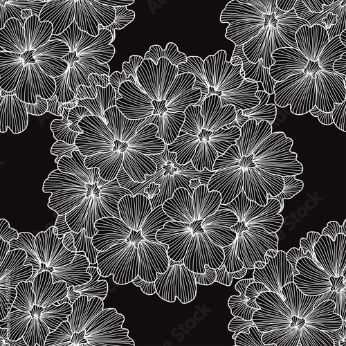 Tuinposter Stof floral seamless pattern