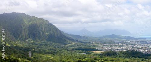 Foto Murales Panorama view from Monalula Ridge to Kualoa