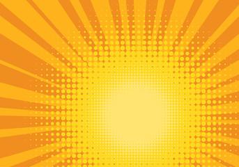 Orange and Yellow Pop Art Background