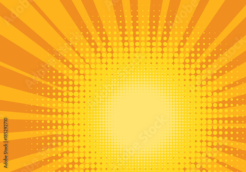 In de dag Pop Art Orange and Yellow Pop Art Background