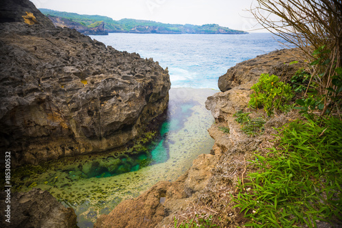 Keuken foto achterwand Bali Angel's Billabong is natural infinity pool on the island of Nusa Penida next to Bali, Indonesia
