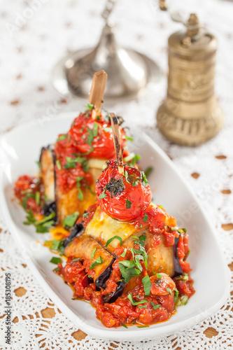 Eggplant potato tomato stew © Erman Dogan