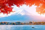 Autumn at Fuji mountain in Japan..