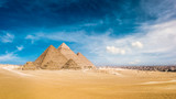 Panorama of the Great Pyramids of Giza, Egypt - 185357900