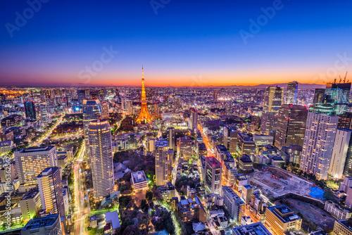 Papiers peints Lavende Tokyo, Japan Cityscape