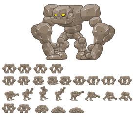 Big Golem Animated Game Character
