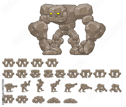 Big Golem Animated Game Character