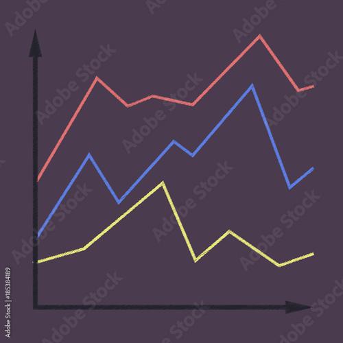 flat shading style icon Financial schedule © anastasia8888
