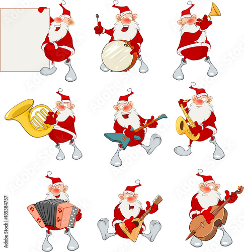 Plexiglas Babykamer Cartoon Illustration of Santa Claus for you Design. Cartoon Character