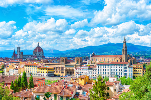Fotobehang Florence Florence (Firenze) cityscape, Italy