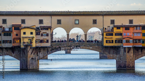 Deurstickers Florence Ponte Vecchio in Florence, Italy