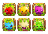 App icons wth cute cartoon plant monsters. - 185390956